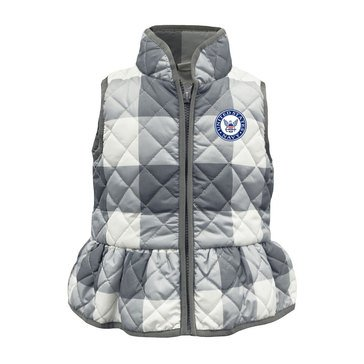 GARB Youth Girl's USN Gingham Vest