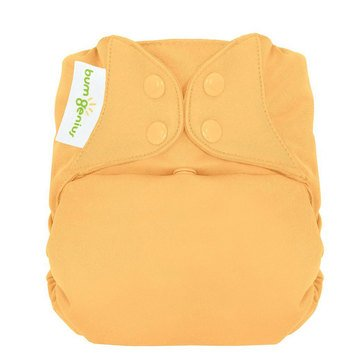 BumGenius Freetime Snap One Size Cloth Diaper, Clementine