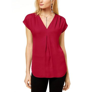 I.N.C. International Concepts Women's Pleat V-Neck Top