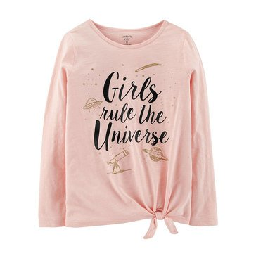 Carter's Little Girls' Girls' Rule Tie Front Tee