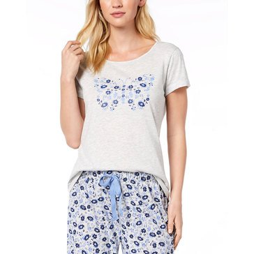 Charter Club Women's Graphic Sleep Top extended sizes