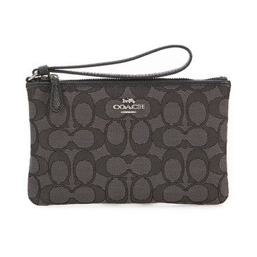 Coach Boxed Signature Jacquard Small Wristlet