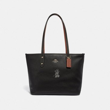 Coach Boxed Minnie Motif City Zip Tote
