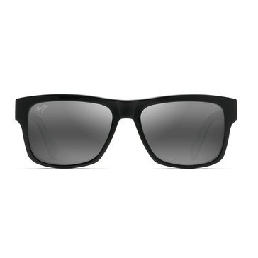 Maui Jim Unisex Vibes Black Gloss with Grey Tones Polarized Classic Sunglasses