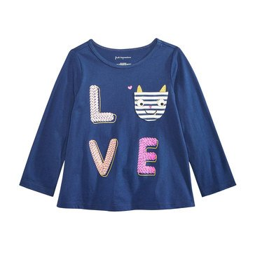 First Impressions Baby Girls' Love Pocket Tee