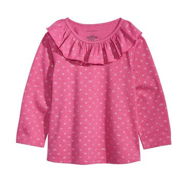 First Impressions Baby Girls' Ruffle Tee