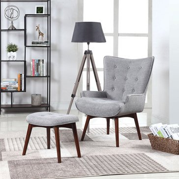 Scott Living Accent Chair with Ottoman (903820)