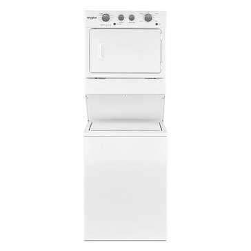 Whirlpool Stacked Washer/Electric Dryer Combo, White (WET4027HW)