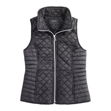 Marc New York Women's Quilted Button Trim Vest