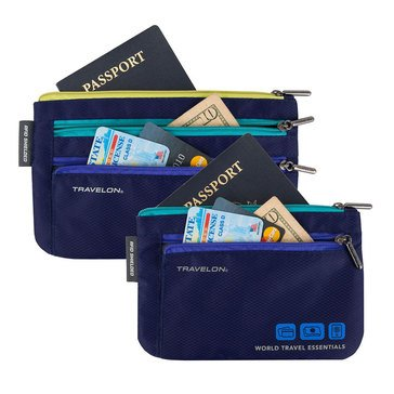 Travelon World Travel Essentials Set of 2 Currency and Passport Organizers
