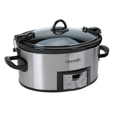 Crock-Pot 6-Quart  Hinged Lid Slow Cooker with with Little Dipper Warmer (SCCPVL619-S-A)
