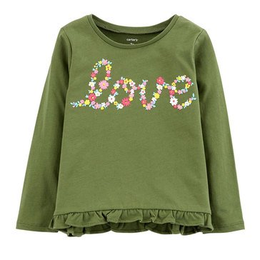 Carter's Toddler Girls' Long Sleeve Love Tee