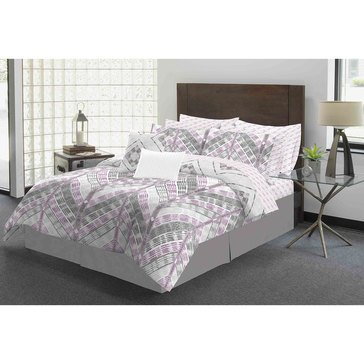 Galveston Gates Amira Plum 12-Piece Comforter Set