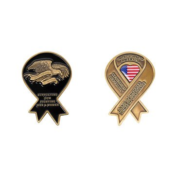 Vanguard Yellow Ribbon Support Our Troops Coin