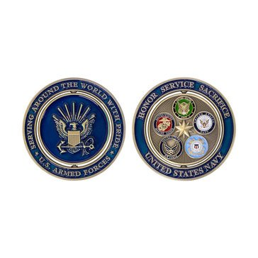Vanguard Navy Proud Military Family Coin