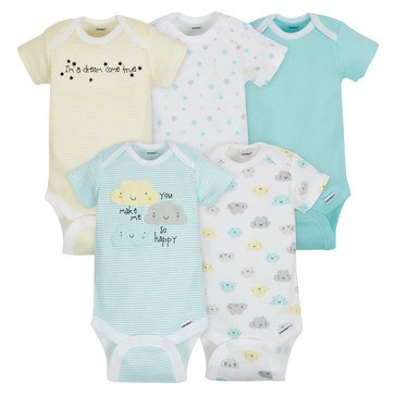 Gerber Newborn 5-Pack Onesies, Clouds