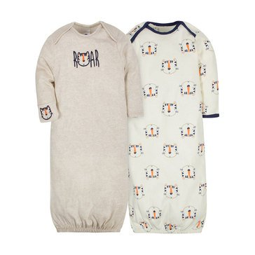 Gerber Baby Boys' 2-Pack Gowns, Tiger