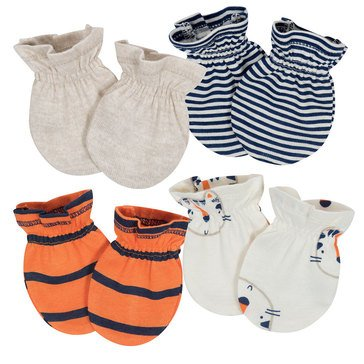 Gerber Baby Boys' Mittens, 4-Pack, Tiger