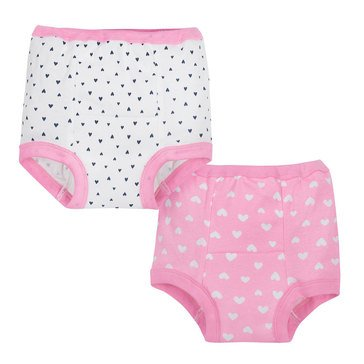 Gerber Baby Girls' 2-Pack Training Pants, Pink Fox