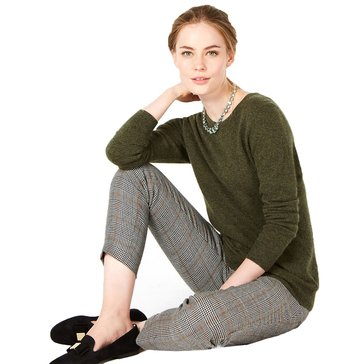Charter Club Women's Cashmere Solid Crew Neck Sweater