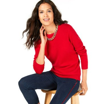 Charter Club Cashmere Solid Crew Neck Sweater