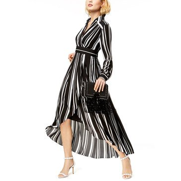 I.N.C. International Concepts Women's Urban Jungle Striped Midi Dress