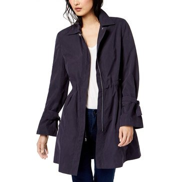 Maison Jules Women's Tie Sleeve Trench Rain Jacket