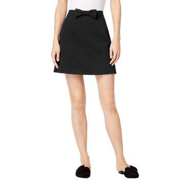 Maison Jules Women's Ponte Mini Skirt With Bow