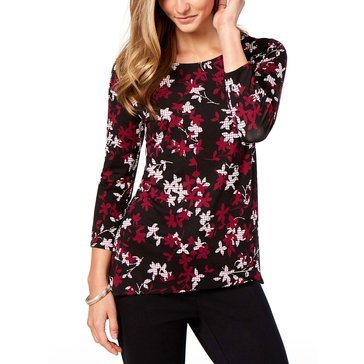 Alfani Women's Floral Printed Tunic Top