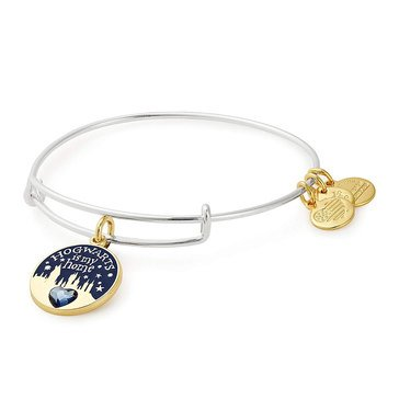 Alex and Ani Harry Potter Hogwarts Is My Home Expandable Wire Bangle, Silver Tone