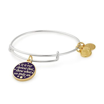 Alex and Ani Harry Potter It Is Our Choices Expandable Wire Bangle, Silver Tone