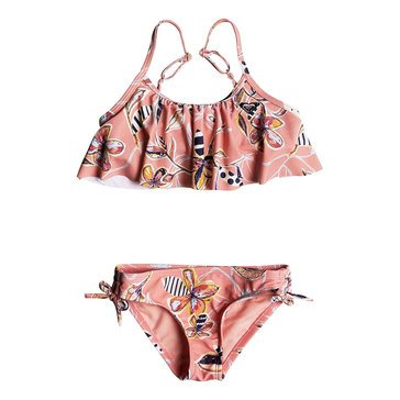 Roxy Little Girls' Let's Be Flutter Swim Set