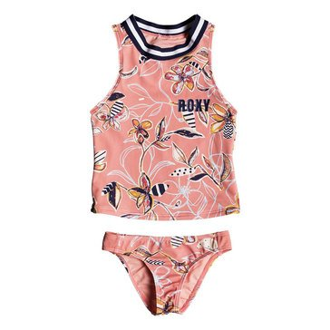 Roxy Little Girls' Let's Be Tankini Set