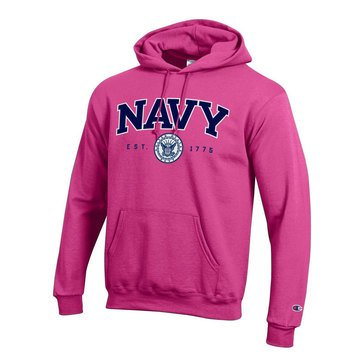 Champion Men's Powerblend Hoodie with USN Applique