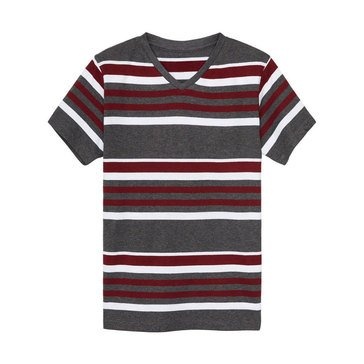 Eight Bells Little Boys' V-Neck Stripe Tee