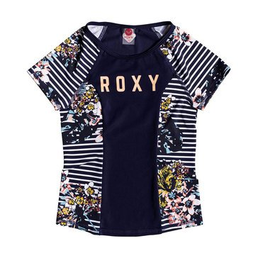 Roxy Big Girls' Keep In Flow Short Sleeve Lycra Swim