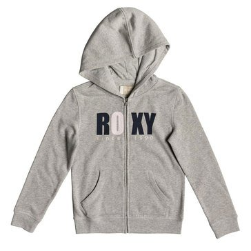 Roxy Big Girls' Girl Plan Bold Distress Zip Up Hoodie