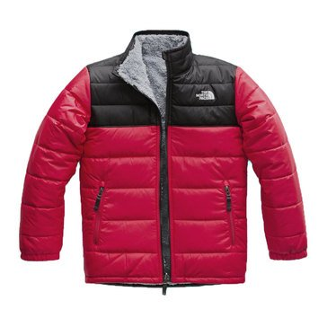 The North Face Big Boys' Reversible Mount Chimborazo Jacket, Black