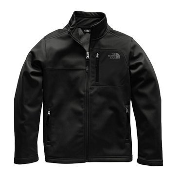 The North Face Big Boys' Apex Rizor Soft Shell Jacket, Black