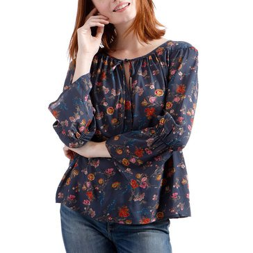 Lucky Brand Women's Printed Bell Sleeve Blouse