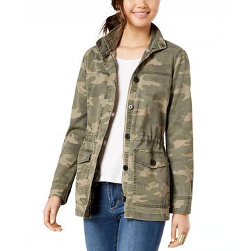 Lucky Brand Women's Camo Printed Jacket