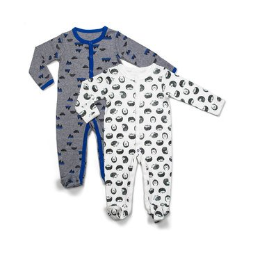 Rosie Pope Baby Boys' Coveralls, 2-Pack