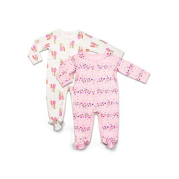 Rosie Pope Baby Girls' Coveralls, 2-Pack
