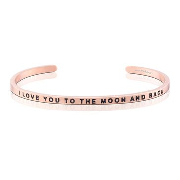 Mantraband I Love You To The Moon And Back Bracelet, Rosegold