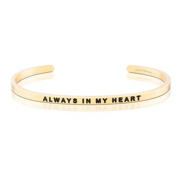 Mantraband Always In My Heart Bracelet, Gold