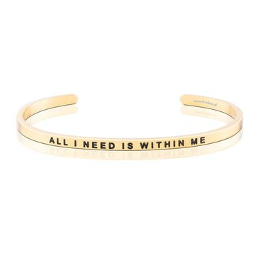 Mantraband All I Need Is Within Me Bracelet, Gold