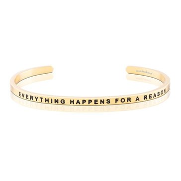 Mantraband Everything Happens For A Reason Bracelet, Gold