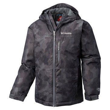 Columbia Big Boys' Magic Mile Jacket Midweight Twill, Black/Grey