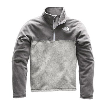 The North Face Big Boys' Glacier 1/4 Zip Fleece Jacket, Black
