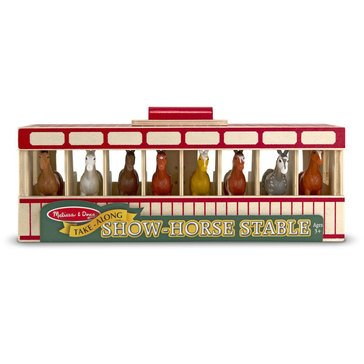 Melissa & Doug Take-Along 8 Horse Mobile Stable
